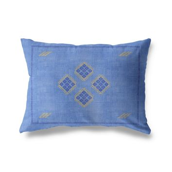KILIM BLUE Indoor|Outdoor Lumbar Pillow By Becky Bailey