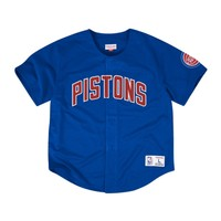 Mitchell & Ness NBA Detroit Pistons Mesh Front Button Jersey