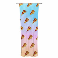 """Juan Paolo """"Lucid Pizza"""" Food Pattern Decorative Sheer Curtain"""