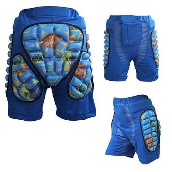 Newest Child  Skiing Safety Protective Sports Racing Motorcycle Snowboard Skating Roller Armor pad Shorts Hip Protector