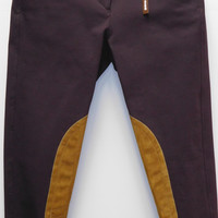 TS 1967 Boysberry w/Tan Knee Patch Low Rise Front Zip Breech