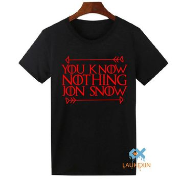 2016 You Know Nothing Jon Snow T-shirt Unisex Inspired Game Of Thrones Tops  T-Shirt Plus Size