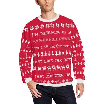 Houston Basketball Men's Ugly Christmas Sweater Sweatshirt; 6 variants available