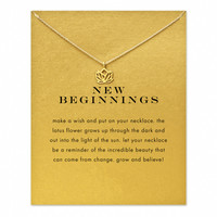 new beginnings lotus Pendant necklace gold color plated Clavicle Chains Statement Necklace Women Jewelry