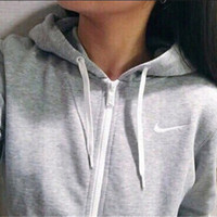 Stylish Casual Long Sleeve NIKE Tops Hats With Pocket Hoodies [8081967367]