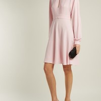 Pleated keyhole crepe dress | Giambattista Valli | MATCHESFASHION.COM UK