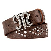 Miss Me Native Stud And Stone Pattern Belt