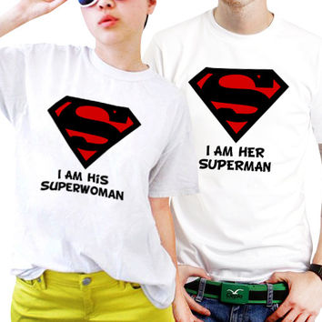 I am His Superwoman And I Her Superman Couples Matching Shirts, Couples T Shirts, Funny Couple Shirts