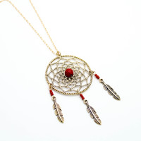 Dreamcatcher long necklace (3 colors)