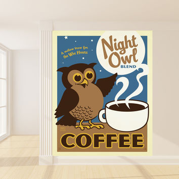 Anderson Design Group's Night Owl Coffee Mural wall decal
