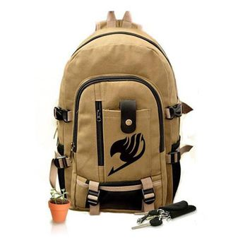 Fairy Tail Backpack for Girls Fairy Tale Bag for School Canvas Japan Anime Printing Pattern SchoolBag for Middle School Students