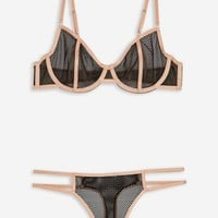 Black Fishnet Underwear Set | Topshop