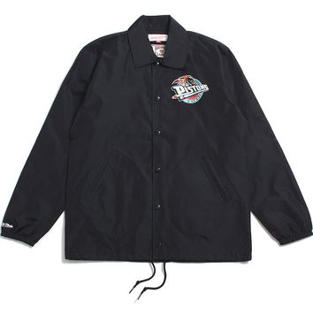 Detroit Pistons Coaches Jacket Black