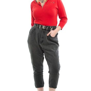Vintage 90's These Days High-Waisted Black Mom Jeans - XL