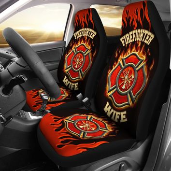 Firefighter Wife Custom Car Seat Covers (set of 2)