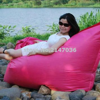 COOL Stylish Pink Specific use and modern appearance waterproof lazy fatball beanbag chair, outdoor bean bag sofa cushion