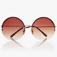 Extreme Rimless Round Sunglasses from EXPRESS