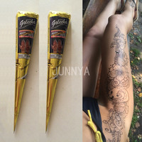 1 pc Body Paint Mini Natural Indian Tattoo Henna Paste For Body Art Drawing Black Henna Tattoos Paste India