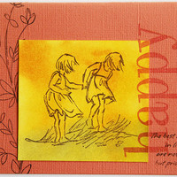 Happy Summer Girls Greeting Card, Handmade Notecard with Inspirational Quote, Any Occasion Card