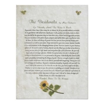 DESIDERATA Careful Daisies