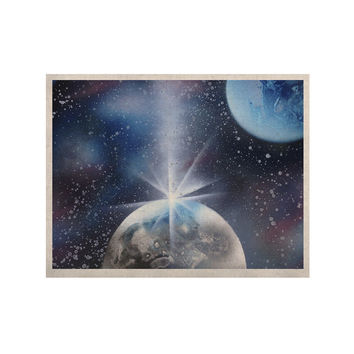 "Infinite Spray Art ""Intergalactic"" Blue Painting KESS Naturals Canvas (Frame not Included)"