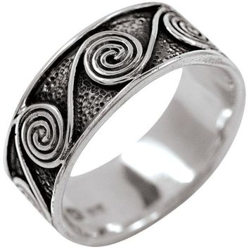 DCCKU3R Celtic Spiral - Silver Ring