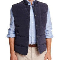 Brunello Cucinelli Quilted Snap-Button Vest, Oxford Button-Down Sport Shirt & Flat-Front Cotton Pants