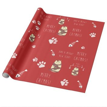Merry Catmas! Christmas Cat Wrapping Paper