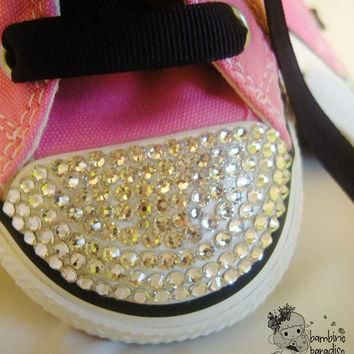 Baby girls.boys.Childrens. Sneakers pink shoes.All Star Converse bling shoes.Made with