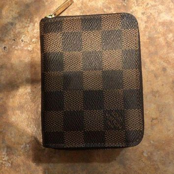 VONEU9F authentic louis vuitton Damier wallet credit card organizer