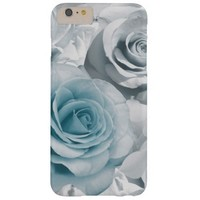 Light Blue and White Rose iPhone 6 Plus Case