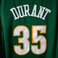 Vintage 90s Seattle Supersonics Kevin Durant Jersey Retro Payton Kemp Dope