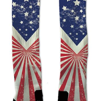Custom U.S Stripes & Stars ELITE Socks