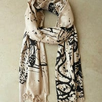 Butterfly Artistry Scarf [4460] - $24.00 : Vintage Inspired Clothing & Affordable Dresses, deloom | Modern. Vintage. Crafted.