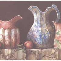 Three Pitchers 7 x 13 lithograph