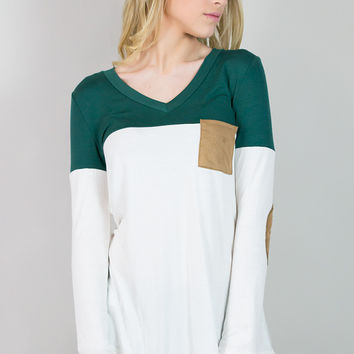 Casual Casey Long Sleeve Pocket Top