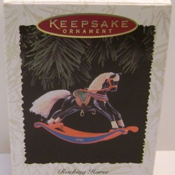 1996 Rocking Horse Hallmark Retired Series Ornament