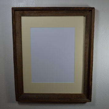 16x20 barn wood style frame complete with mat for 11x14,12x16,11x17 or 12x18 picture or poster