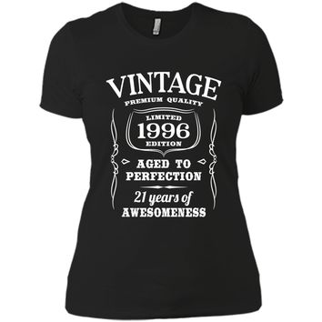 21st Birthday Gift T-Shirt Limited 1996 Edition