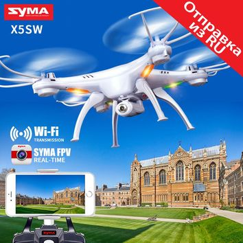 SYMA X5SW Drone with WiFi Camera Real-time Transmit FPV Quadcopter (X5C Upgrade) HD Camera Dron 2.4G 4CH RC Helicopter