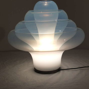 "Carlo Nason for Mazzega Opaline Table Lamp ""The Lotus"""