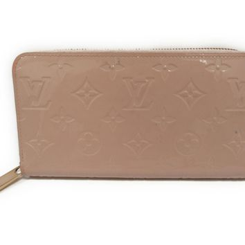 LOUIS VUITTON Vernis Zippy Long Wallet Rose ballerina M90419