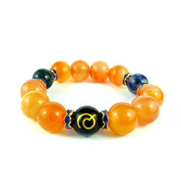 Dragon Ball Goku Bracelet, Beaded Bracelet, Dragon Ball Z, Dragon Ball Jewelery, Japanese Dragon Bracelet, Vegeta, Ressurection F, Whis Gi