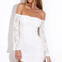 Causing A Commotion Dress White