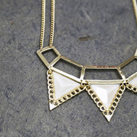Egyptian Style Necklace {Cream}