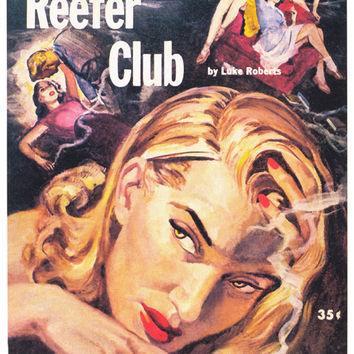 Reefer Club 11x17 Retro Book Cover Poster