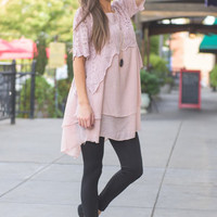 Living For Love Sweater, Blush
