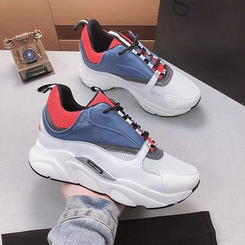 Dior White/blue Fashion Casual Sneakers Sport Shoes Size 36-45