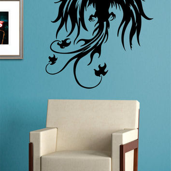 Phoenix Bird Design Animal Decal Sticker Wall Vinyl Decor Art
