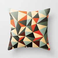Colorful Abstract Diamond Pattern Throw Pillow by Smyrna